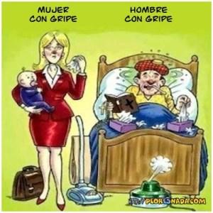 gripe mujer y hombre